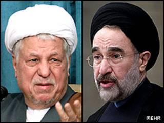 محمد خاتمی و اکبر هاشمی رفسنجانی