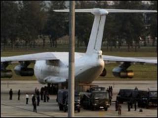 الطائرة التي ضبطت في تايلندا
