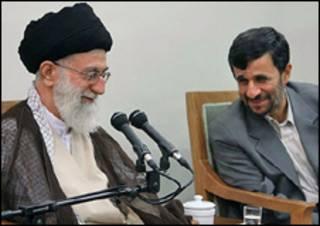 آیت الله خامنه ای، محمود احمدی نژاد