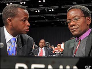 Miembros de la delegación africana
