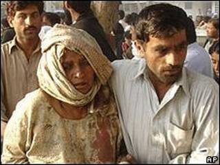 Víctimas de explosión en Pakistán