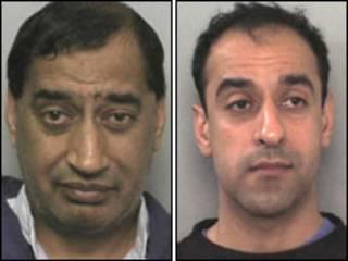 Os irmãos Munir Hussain (à esquerda) e Tokeer (à direita)