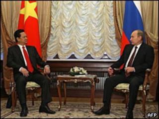 Ông Nguyễn Tấn Dũng và Thủ tướng Nga Vladimir Putin