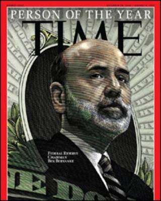 Обложка журнала Time с портретом Бернанке