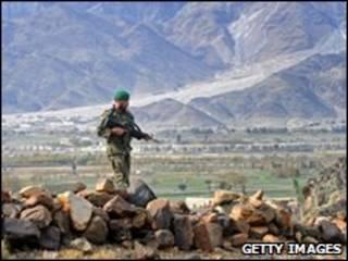 سرباز افغان در کنر