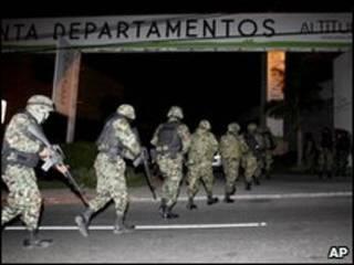 Militares en operativo de Beltrán Leyva. Foto de archivo.