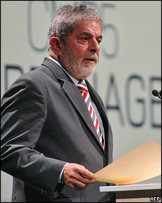 O presidente Lula em Copenhague