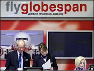 Mostrador de Flyglobespan.