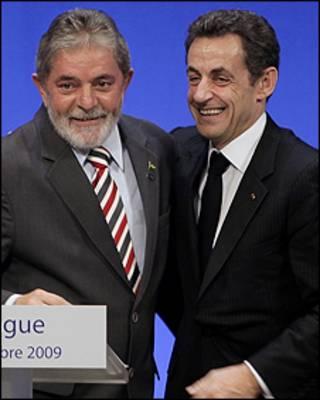 O presidente Lula e o líder francês, Nicolas Sarkozy, em Copenhague