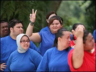 Martha Lai, ao centro, entre participantes (Foto: Divulgação)