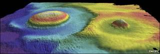 Предполагаемый кратер на дне океана