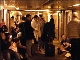 Passageiros presos no Eurostar
