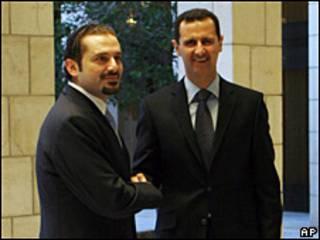 بشار الأسد وسعد الحريري