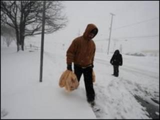 برف در واشنگتن