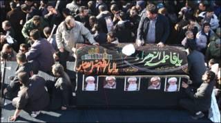 Funeral do aiatolá Ali Montazeri