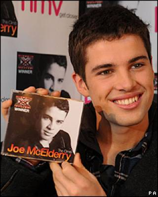 今年X Factor大赛夺冠者Joe McElderry