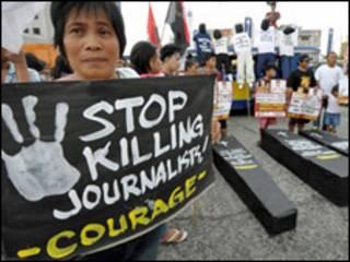 демонстрація проти вбивств журналістів на Філіпінах
