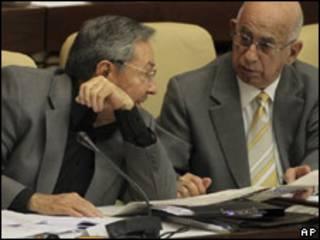 Raúl Castro durante la plenaria de la Asamblea Nacional