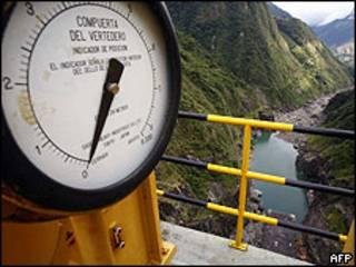 Vista de la presa de Paute Dam, en Ecuador