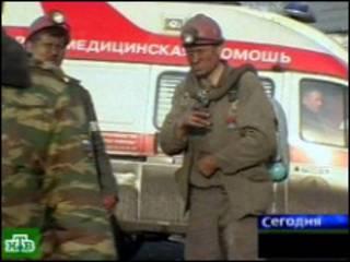 Спасательные работы на месте взрыва (кадр НТВ)