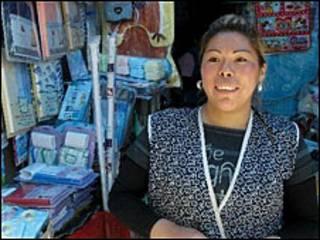 Norma Ramos, comerciante boliviana