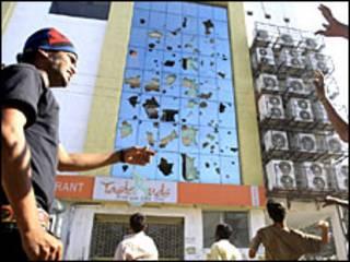 तेलंगाना के लिए आंदोलन के दौरान तोड़फोड़ (फ़ाइल फ़ोटो)