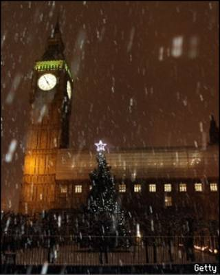 Снегопад в Лондоне