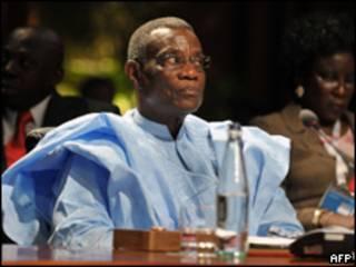 El presidente de Ghana, John Atta Mills