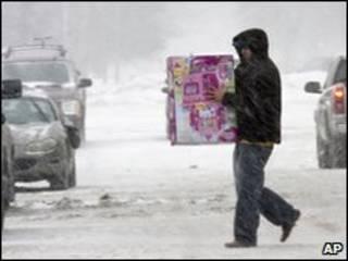 Bão tuyết ở Mỹ (AP)