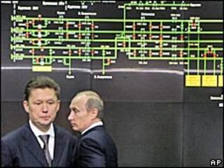 Голова Газпрому Алексєй Міллер та російський прем'єр Владімір Путін