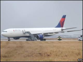 Avión de Northwest en Detroit