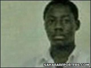 Foto de Umar Farouk Abdulmutallab publicada pelo site saharareporters.com