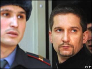 Денис Евсюков в зале суда