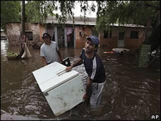 Inundación en San Antonio de Areco.