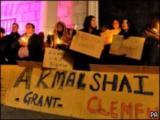 Протестующие против приговора Шайху
