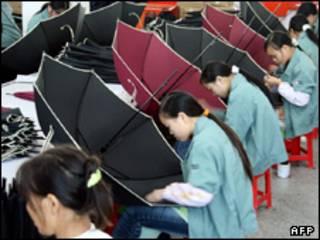 Xưởng sản xuất ô ở Trung Quốc