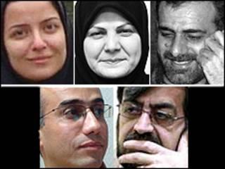 نسرین وزیری، بدرالسادات مفیدی، علیرضا بهشتی شیرازی، مرتضی کاظمیان و علیرضا حسینی بهشتی