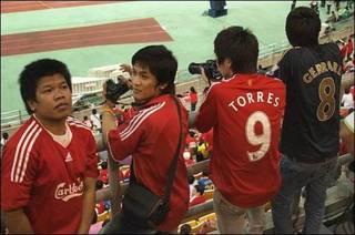 Aficionados de Liverpool en Bangkok