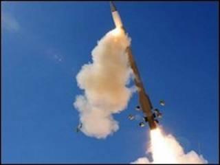 """запуск американской ракеты """"Пэтриот"""""""