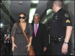 Marcela Herrera de Noble, tras someterse a los exámenes de ADN