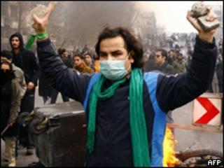 Marcha opositora en Irán