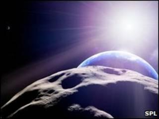 Dibujo del asteroide Apophis