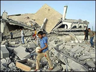 منزل فلسطيني مهدوم