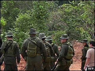 Soldados colombianos (foto de archivo)