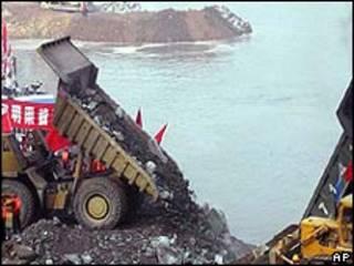 Proyecto de irrigación en China (foto de archivo)