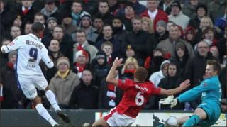 Bàn thắng của Beckford phút 19