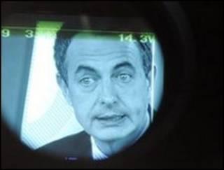 José Luis Rodríguez Zapatero, presidente del gobierno español