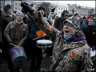 Protesta en Islandia (archivo)
