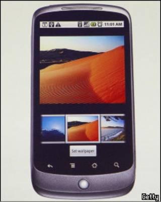 O telefone Nexus One. Foto Getty Images