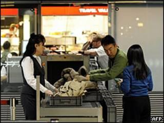 Control de seguridad en un aeropuerto de Alemania. Archivo
